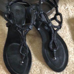 Keneth Cole Reaction-Black stylish sandals.